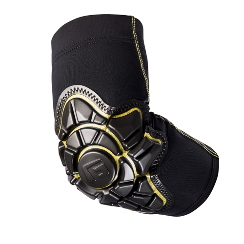 PRO_X Elbow Pad_ Black_Yellow_ Compression